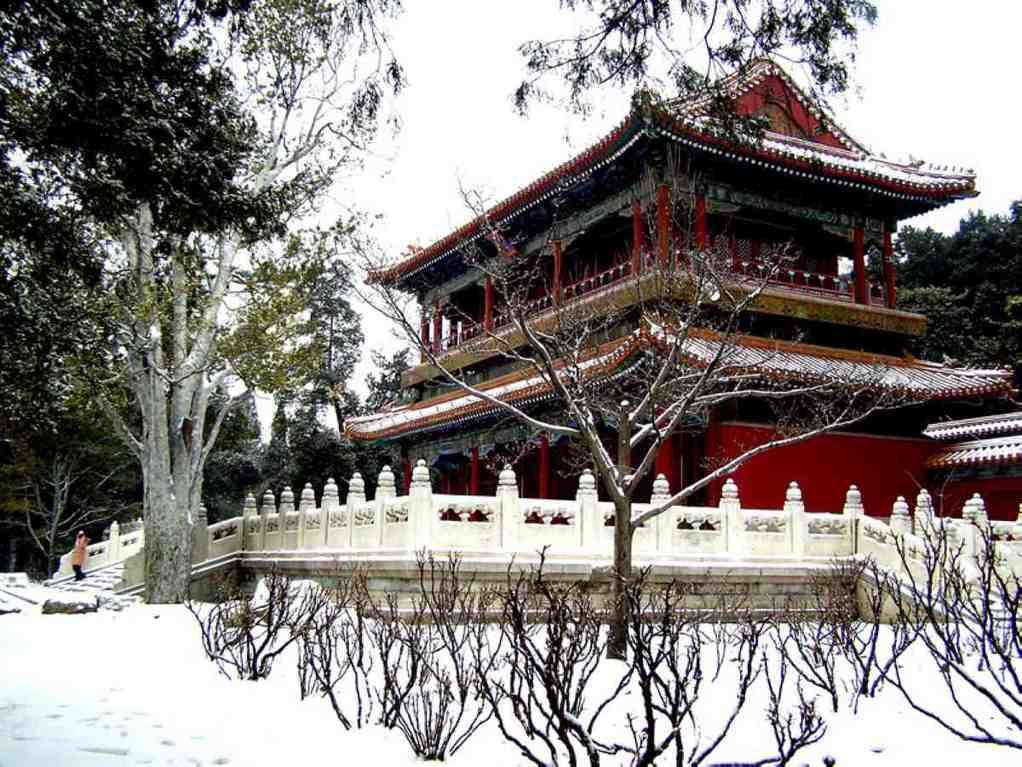 景山公园雪景